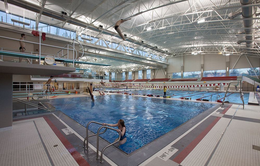 Trumbull Aquatic Center in Mitchell Athletic Center