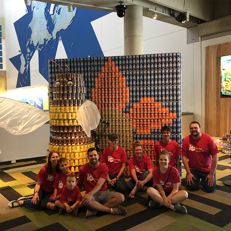 H+C supports Operation Food Search through CANstruction's 2019 competition