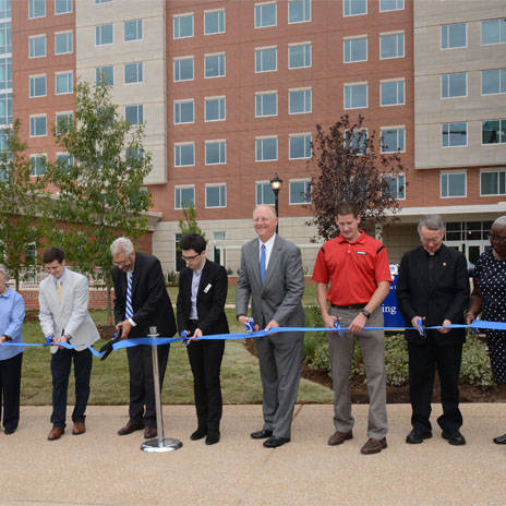 Saint Louis University Celebrates Spring Residence Hall Opening with Ribbon Cutting Ceremony