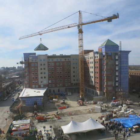 Saint Louis University tops off new residence hall